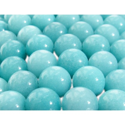 A Grade Natural Amazonite Gemstone Beads, 4mm-10mm, Smooth Round, L1-02396