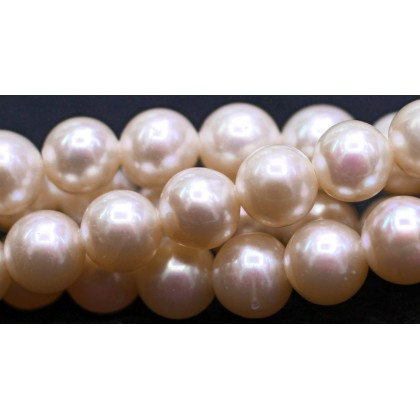 Beads, Pearl Bead, 6mm-7mm, Freshwater Pearl, Grade AB, Cream, Semi-Round, Diy, L1-02548