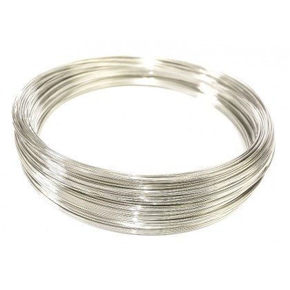 Beads Wire, Memory Wire, 130x0.6mm, Rhodium Plated, Iron, Diy, L1-02609