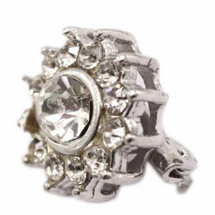 Beads, Brooch Pin, 16mm, Antique Silver Plated, Zinc Alloy, Flower, Diy, L1-02886