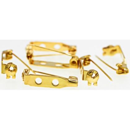 Beads, Brooch Pin, 27x8mm, Gold Plated, Brass, Diy, L1-02887
