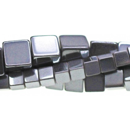Approx Cube Shaped Hematite 4mm 16 Inch Strand High Quality