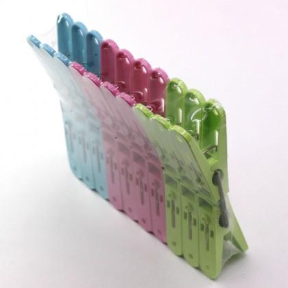 20 Pcs Multicolour Plastic Clothes Pegs, Plastic Clip, 55x13mm
