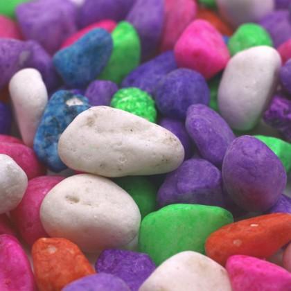 800g Colourful Pebbles 5-40mm Fish Tank Aquarium Stone Decoration