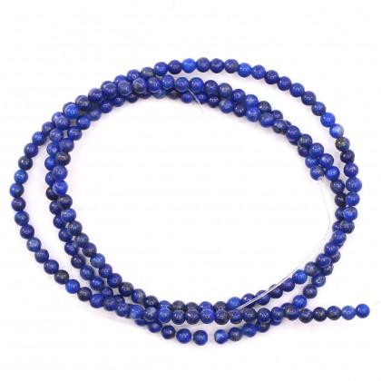 Natural Lapis Lazuli, 2mm-12mm, Smooth Round ,L1-05883