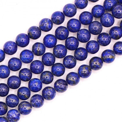 Grade AA Lapis Lazuli Natural Gemstone Beads, 6mm, Smooth Round, L1-05917