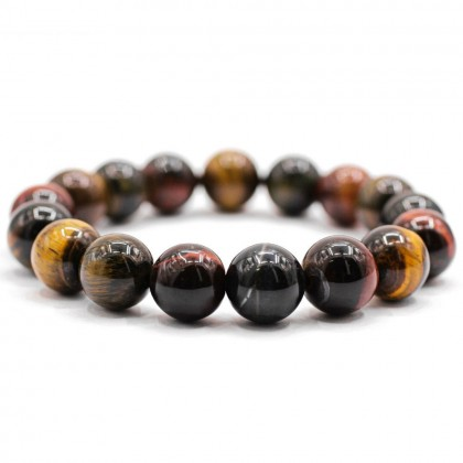 Natural Mix Colour Tiger Eye Bracelet Round