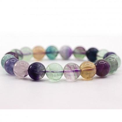 Natural Fluorite Bracelet Round