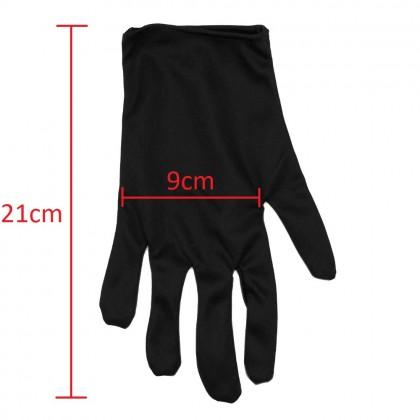1 Pair Black Nylon Jewelry Gloves Tight