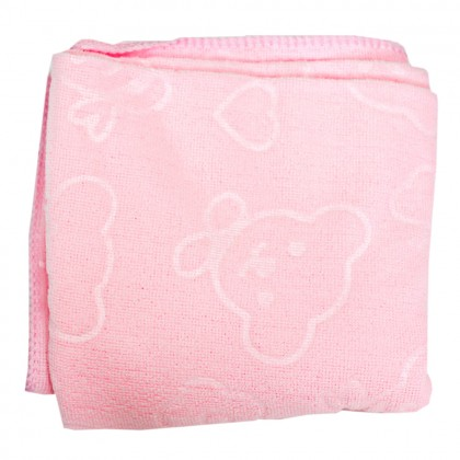 1 Pcs Colourful 140x70cm Microfiber Towel Embossed Bear Flower Cute Absorbent Towel