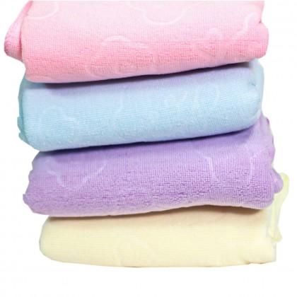 1 Pcs Colourful 140x70cm Microfiber Towel Embossed Bear Flower Cute Absorbent Towel
