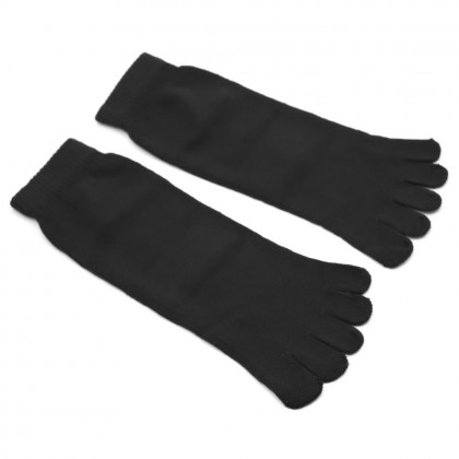 1 Pair Unisex Five Toe Socks Cotton Black Color Comfortable Men Women Socks