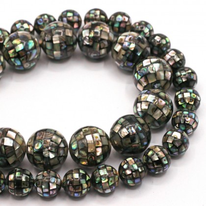 Beads, Paua Shell Bead, 12-18mm, Natural, SELECT YOUR SIZE, Round, Diy, L1-00324