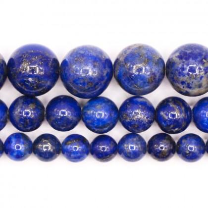 Natural Lapis Lazuli Gemstone Beads, 6mm-12mm, Smooth Round, L2-02354
