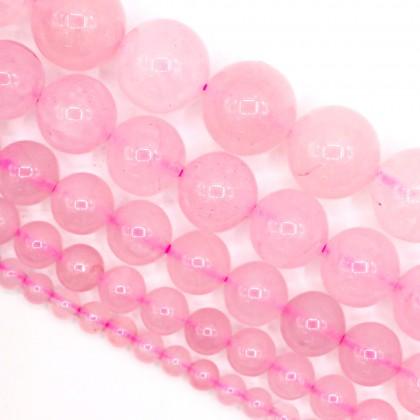 Natural Rose Quartz Gemstone Beads, 4mm-12mm, Smooth Round, L2-02423