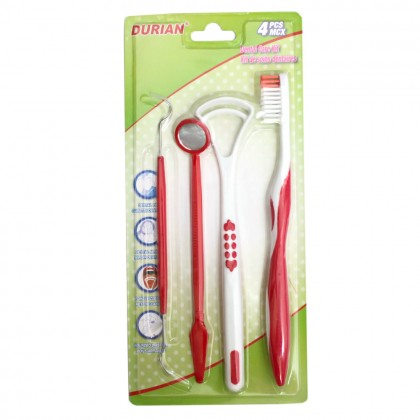 Dental Care Kit Toothbrush Oral Set Dental Mirror Tongue Cleaner Dental Pik