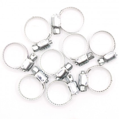 9pcs 22mm Adjustable Hose Clamp Stainless Steel Hose Clip House Home Improvement