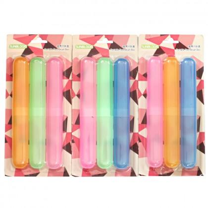 3 Pcs Portable Toothbrush Plastic Box Case