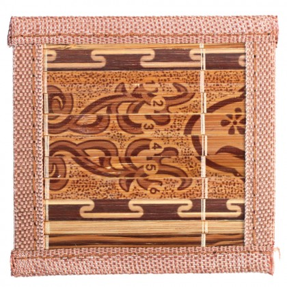 6 Pcs Bamboo Coaster 10x10cm Cup Mug Coaster Table