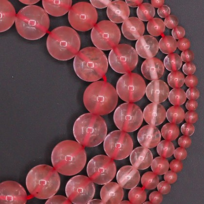 Imitation Watermelon Quartz, Synthetic Crystal Beads, 4mm-12mm, Smooth Round, L2-02275