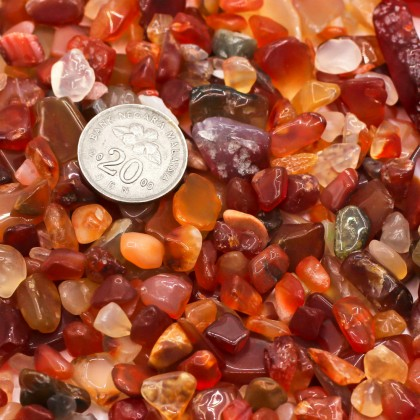 Large Chip, 5x8mm-8x12mm, Stone Bead, Embellishment, Red Agate Gravel, Diy, L2-05387