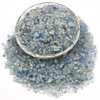 Mini Chip, 3x5mm, Stone Bead, Embellishment, Aquamarine Gravel, Diy, L2-01279