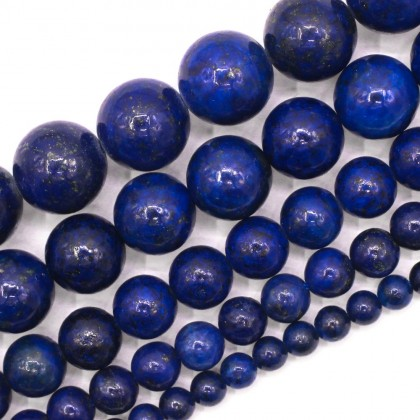 Bead, Natural Lapis Lazuli Gemstone Beads, 4mm-12mm, Smooth Round, L2-01135