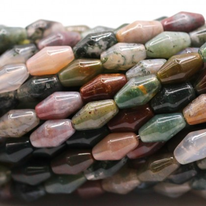 Bead, Natural Indian Blood Stone Gemstone Beads, 5x9mm, Rice, L2-05833