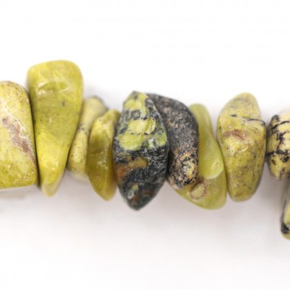 Bead, Natural Yellow Turquoise (Serpentine) Gemstone Beads, 4x9mm-13x22mm, Large Chip, Diy, L2-01121