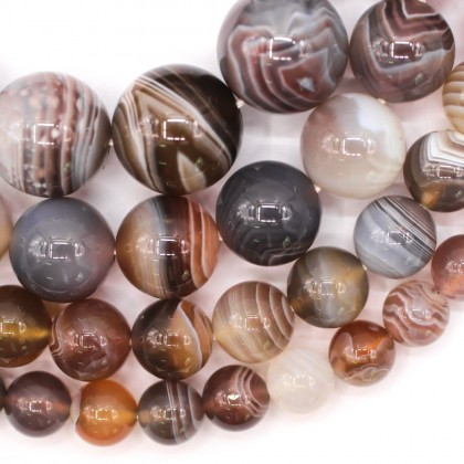 Bead, Natural Botswana Agate Gemstone Beads, 6mm-12mm, Smooth Round, L2-02535