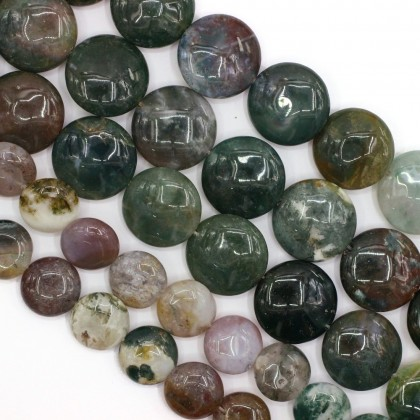 Bead, Natural Indian Blood Stone Gemstone Beads, 14mm-20mm, Flat Round, Diy, L2-05797