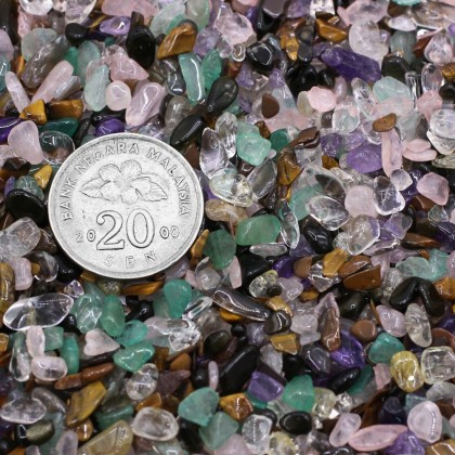 100g Undrilled Mini Chip, 3x5mm, Stone Bead, Embellishment, Mix Stone Gravel, Diy, L2-01275