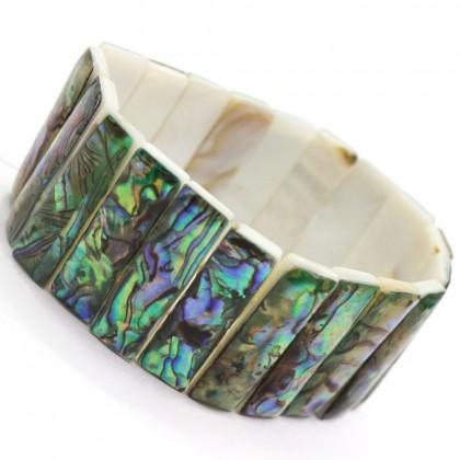 Natural Paua Shell Bracelet Rectangle