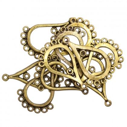 Beads, Connector Link, 30x32mm, SELECT YOUR COLOUR, Zinc Alloy, Diy, L1-04274