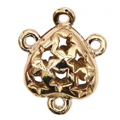 Beads, Connector Link, 20x17mm, Light Gold Plated, Zinc Alloy, Heart, Diy, L1-04250