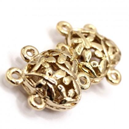 Beads, Connector Link, 21x16mm, Light Gold Plated, Zinc Alloy, Heart, Diy, L1-04249