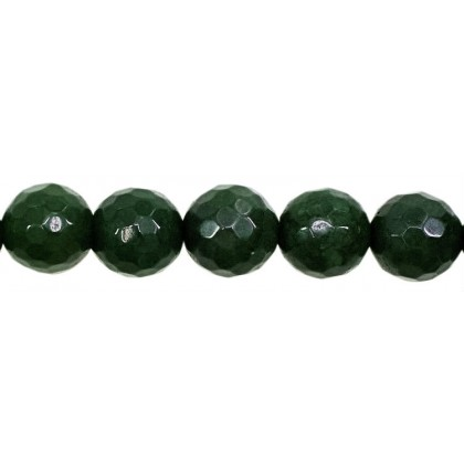 Malaysian Jade Faceted Round Beads 10mm Green 38 Pcs Gemstones Jewellery Making